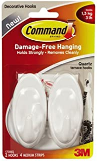 Command Hooks, Plastic, White