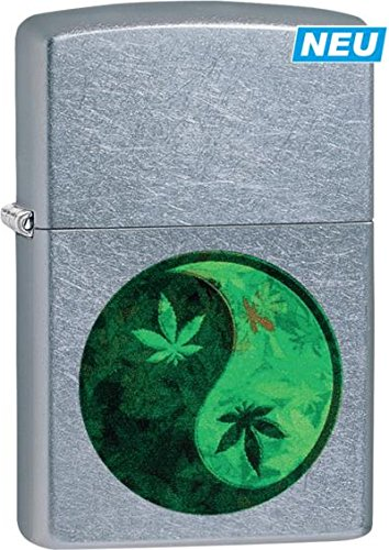"ZIPPO street chrome color \""Cannabis Yin Yang\"" 60003681"