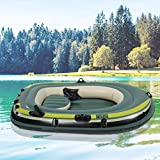 AYNEFY - Barco Hinchable de 200 kg, 2 Personas, Bote Inflable de Pesca para Dos Personas, Canoa, Barco de balsa