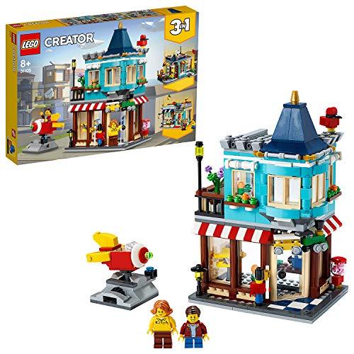 LEGOCreator3in1NegoziodiGiocattoli-Pasticceria-Fioraio,conRazzo-GiostraFunzionante,SetdiCostruzioni,31105