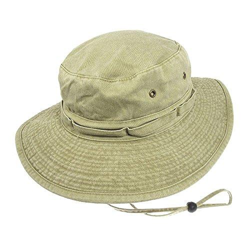 Village Hats Chapeau Bob Boonie Pliable en Coton Khaki - Large