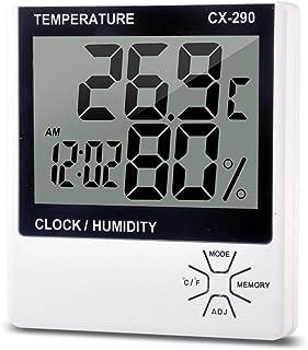 Katerk Digital termometer fuktighetsmätare LCD digital termometer hyagrometer rum ℃/temperatur fuktighetsmätare med väckar...