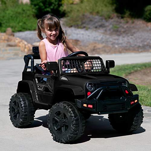 Best Choice Products 12V Kids Ride On Truck Car w/Parent Remote Control, Spring Suspension, LED Lights, AUX Port - Black