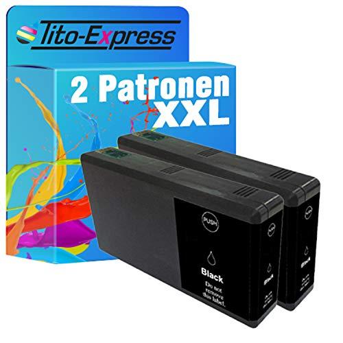 Tito-Express ProSerie - Set di 2 cartucce compatibili con Epson T7901-T7904 79 XL con 50 ml nero XXL contenuto WF-5110 DW WF-5190 DW WF-5620 DWF WF-4640 DTWF WF-5600 WF-4600 WF-4630 DWF