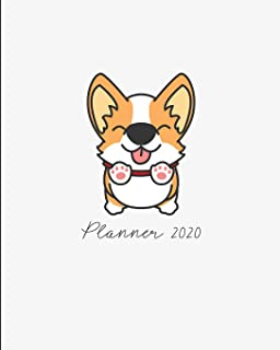 Planner 2020: 2020 Weekly Planner. Monthly Calendars, Daily Schedule, Important Dates, Mood Tracker, Goals and Thoughts all in One! Cute Corgi Cover.