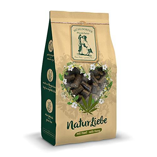 Mühldorfer NaturLiebe Hanf, 1 kg, naturgesunde Leckerli für Pferde, getreidefrei, ohne Melasse und Zusatzstoffe, zucker- und stärkereduziert