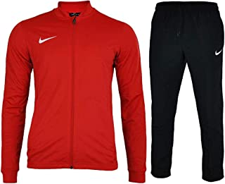 af23e1300e751 Nike Mens Academy 16 Knit Dri Fit Red Black Football Warm Up Full Tracksuit