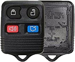 KeylessOption Just the Case Keyless Entry Remote Car Key Fob Shell Replacement - Black