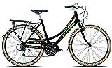 Legnano Ciclo 301 Ventimiglia, City Bike Donna, Nero/Verde, 44...