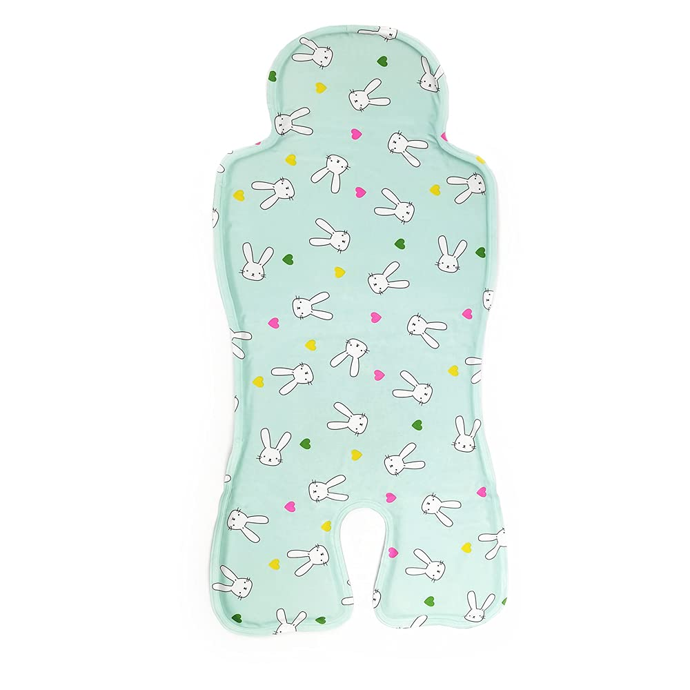 Baby Cooling Pad Gel Car Seat Cooler Pad for Baby Stroller, Summer Breathable Ice Chair Ice Cushion 12.9'' X 27.5'' Suitable for Baby Dining Chair, Child Safety Seat, Carton Printed for Toddlers