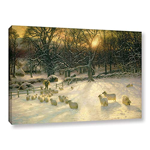 ArtWall Joseph Farquharson's 'The Shortening Winter's 'Day is Near A Close' Gallery Wrapped Canvas 8x12