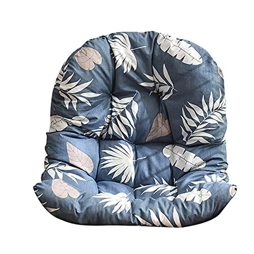 MKWEY Hängen Egg Chair Kissen, Rücken Stuhlkissen Sitzkissen Pad Garten Terrasse, Doppel Wicker Rattan Kissen, Weiches, Nonslip, Hautfreundliches Soft