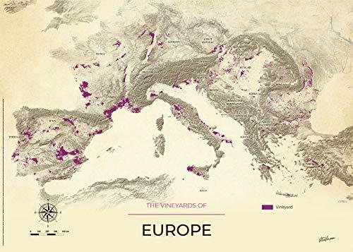GeoVINUM Mapa de vino de Alsacia en soporte rígido