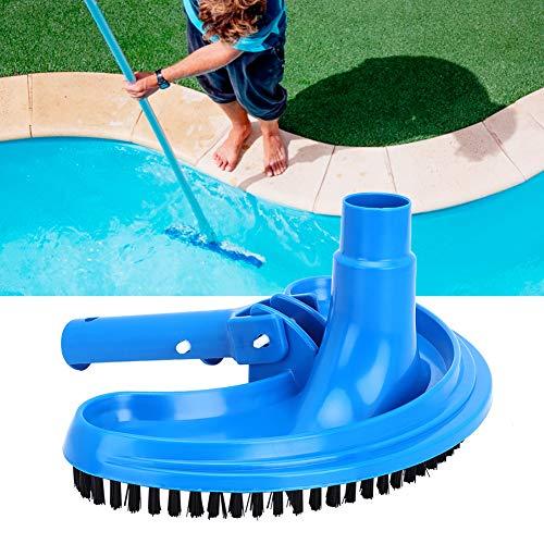 Cepillo de succión para piscina con cabezal de aspiración flexible de media luna, cabezal de succión curvo, accesorio de limpieza para spa, hotel, estanque de hidromasaje