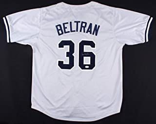 bc9a9898 Carlos Beltran Autographed Signed New York Yankees Jersey (Size XL) JSA  Hologram Se Or