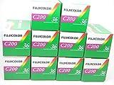 Fujifilm - C200 - película fotográfica de 35 mm (Color, 36 exposiciones, Paquete de 10 Unidades)