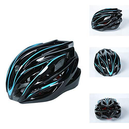 YDYL-LI Fahrradhelm, MTB-Fahrrad-Skateboard Scooter Hoverboard Helm für Sicherheit beim Reiten Leicht Einstellbare Breath Helm für Männer Frauen Childs mit abnehmbarem (54-62cm),Blau