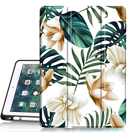 PIXIU ipad 6th /5th Generation Cases with Pencil Holder,Full Body Protective Folio Leather Smart case Cover with Wake/Sleep Feature for iPad 9.7 inch 2017/2018 Released/ipad air 2/ipad air
