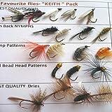 Angeln Fliegen 'Keith Favourite Pack 20Forellen Nassfliegen Fliegen UK trocknet Nymphs Pack # 16