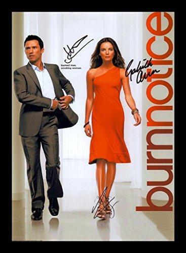 Burn Notice - Bruce Campbell & Jeffrey Donovan & Gabrielle Anwar Signiert und gerahmt Foto