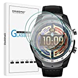 (4 Pack) Orzero For Ticwatch Pro 4G, Ticwatch Pro, Ticwatch Pro 2020 Smartwatch Tempered Glass Screen Protector, 2.5D Arc Edges 9 Hardness HD Anti-Scratch Bubble-Free (Lifetime Replacement)