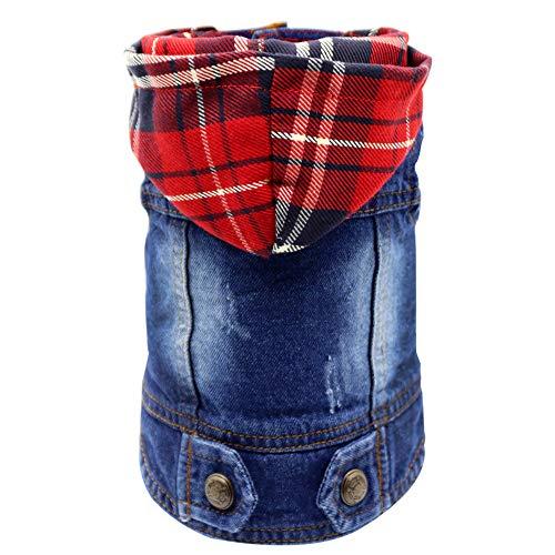 SILD Pet Clothes Dog Jeans Jacket Cool Blue Denim...