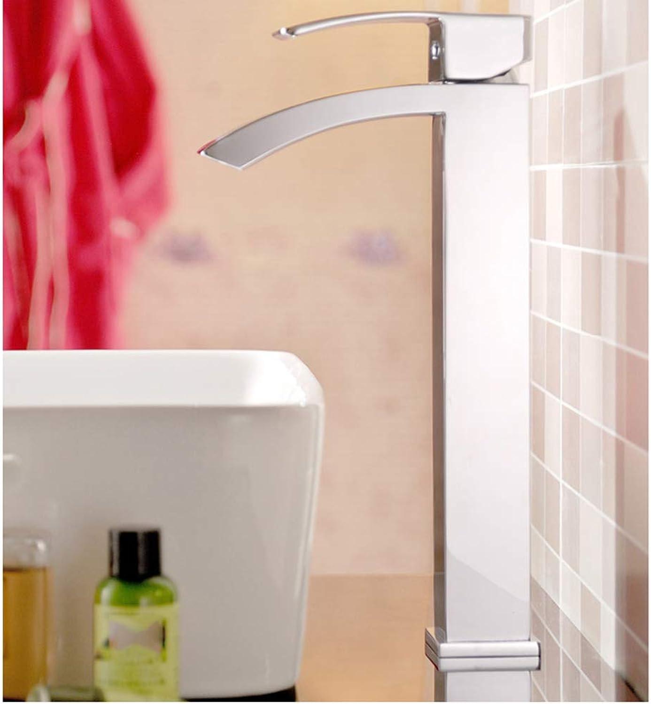 IFELGUD Hohe Version Einhand-Badezimmer Chrom Oberflchenmontierte Wasserfall Wasserhahn Messing Mischbatterie