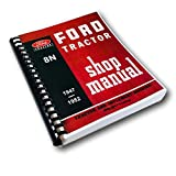 1947-1953 Ford 8N Tractor Master Service Repair Shop Manual Technical Book Earlier 2N 9N Compatible