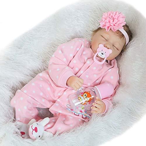 Jolie Reborn Baby Doll Dormido Cuerpo De Tela Muñeca Chica Muñeca Reallike Recién Nacida