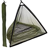 42' INCH CARP FISHING LANDING NET WITH STINK BAG SPREADER BLOCK - In Black & Green With a Deluxe Feel and Finish NO POLE OR HANDLE INCLUDED