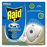 Raid recharge originale pour les insectes Fiche Night & Day Trio, protection contre les...