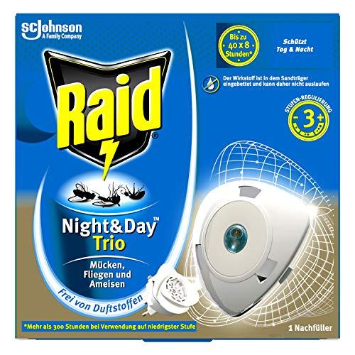Raid Night & Day Trio Nachfüller, Insekten Stecker, bis zu 300 Stunden