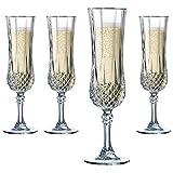 Cristal D'Arques Longchamp - Estuche de 6 copas alargadas, 14 cl