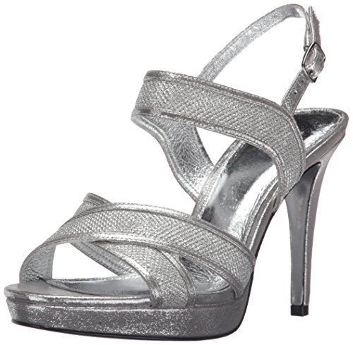 Adrianna Papell Women's Ansel Dress Sandal, Silver, 9 M US