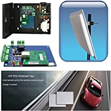Car Access Control Garage Entrance Control 16-23ft Long Range Reading Windshield Tag Car Parking System with Control Panel+110V Power Box