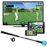 PhiGolf Mobile and Home Smart Golf Spielsimulator mit Swing Stick, Schwarz, Nicht zutreffend -
