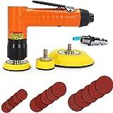 Autolock 1/2/3 pulgada mini lijadora orbital aleatoria pulidora 15000 rpm + 1 destornillador / 1 conector rápido de tubo de aire / 5 hojas de papel de lija de 1, 2 y 3 pulgadas/manual del producto