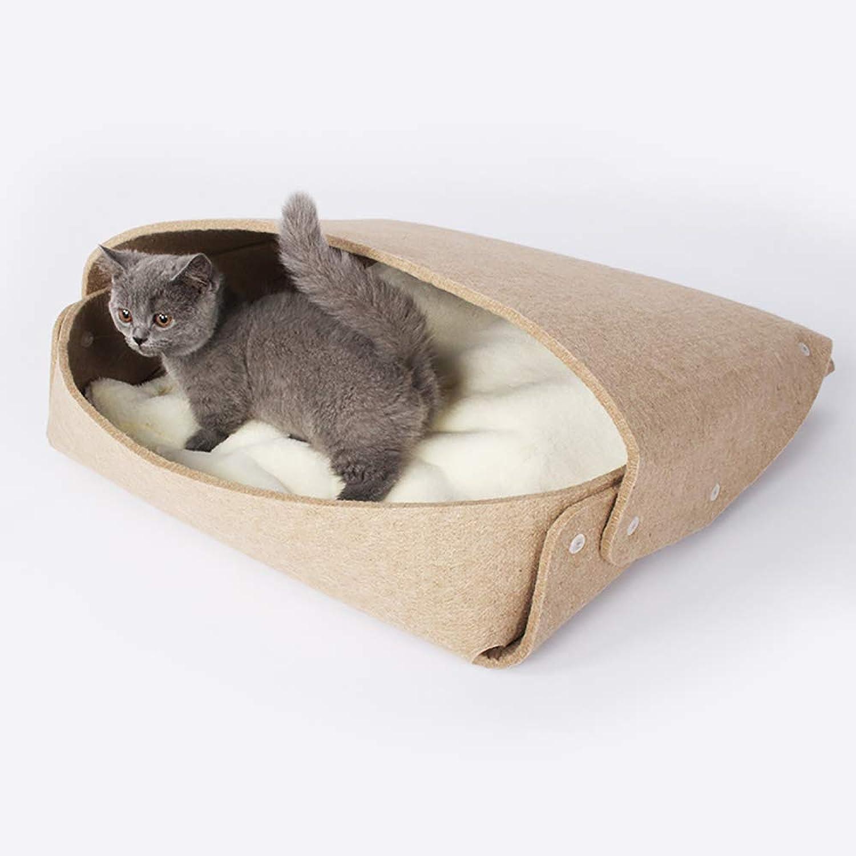 Creative Felt Cat Bed Four Seasons Available Cat House Comfort Pad File Bag Cat Bed Suitable Cat Entertainment Rest