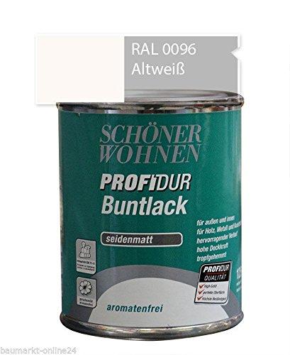 Profidur Buntlack 125 ml RAL 0096 Altweiß Seidenmatt Schöner Wohnen