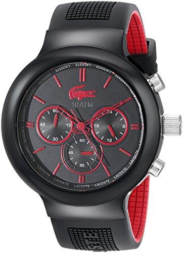 Lacoste 2010652 - Reloj de Pulsera Hombre, Silicona, Color Negro