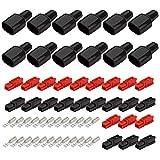 GTIWUNG Lot de 36 Connecteur de Batterie Batterie à Connexion Rapide 30A Connecteurs d'alimentation Modulaires Déconnexion Rapide, Connecteurs Rapides de Batterie de Voiture 30A