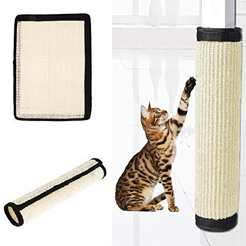 Your's Bath Rascador para Gatos Almohadilla Rascar Gato 40.5 * 29cm Rascadora Alfombrilla Afilador de Uñas de Sisal para Envolver Muebles Patas Mesa Sillas Protector contra Arañazos Mascotas