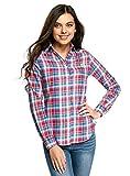 oodji Ultra Mujer Camisa Ancha con Bordado, Rosa, ES 38 / S