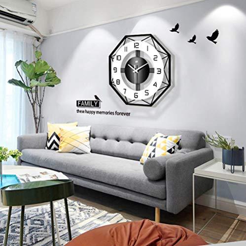 GZHMW Wanduhr Modern Wohnzimmer Einfacher Quarz JT18213 43x43cm Uhr Wand Lautlos for Schlafzimmer Badezimmer Büro Junge Kinderzimmer Mädchen