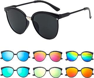 FIRFONMA Occhiali da Sole Polarizzati per Donna e Uomo Occhiali da Sole Policromatici Uv400 con Montatura Chiara