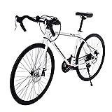 Lightweight Aluminum Road Bike - 21 Speed Disc Brakes Road Bicycles Begasso Simanos Aluminum Frame Full Suspension 700c Wheels Mountain Road Bike,Black