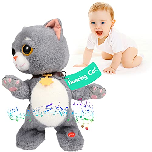 Baby Toys 12 18 Months Singing Dancing Talking Cat Toddler Toys Interactive Cat Plush Early Learning Educational Musical Toy Gift for Boys and Girls Age 1 2 3 4 5, 14'