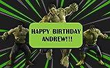 Hulk Birthday Banner Personalized Party Backdrop Decoration ikban138