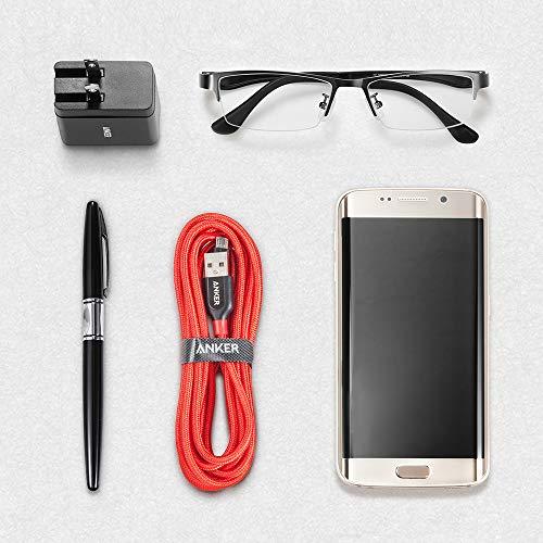 Anker Powerline+ 3 m Micro USB Kabel, Das hochwertige, schnellere & beständigere Ladekabel für Samsung, Nexus, LG, Motorola, Android Smartphones und weitere (Rot)