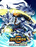 Digimon Coloring Book: Beatiful Anime Illustrations To Color For Kids...
